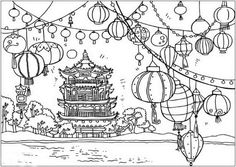 Chinese New Year Dragon Coloring Page Worksheets Dragons and