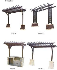 Trellis idea - outside on the south side of the deck fence and above the outdoor cooking area Pergola Metal, Patio Pergola, Pergola With Roof, Wooden Pergola, Diy Patio, Backyard Patio, Backyard Landscaping, Covered Pergola, Small Pergola
