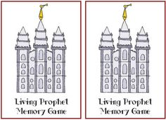 General Conference Memory Game with short bios at the bottom of the page Activity Day Girls, Activity Days, Activity Box, Visiting Teaching Handouts, Teaching Kids, Primary Singing Time, Memory Games For Kids, Church Activities, General Conference