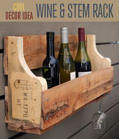 Pallet Wine Rack | Furniture Ideas | Upcycled Home Decor - DIY Ready | DIY Projects | Crafts