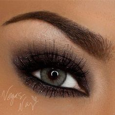Black glitter eye makeup #smokey #dark #dramatic #eye #makeup #eyes