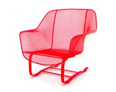 Image of RUSSELL WOODARD LOW LOUNGER - MARFA RED