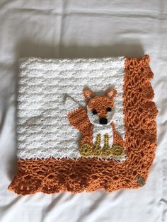 Excited to share this item from my shop: Woodland Creature Crochet Baby Blanket Crochet Baby Blanket Free Pattern, Crochet Patterns, Crochet Ideas, Crochet Sloth, Crochet Animals, Peter Rabbit Blanket, Crochet Lace Edging, Knitted Baby Blankets, Crochet For Boys