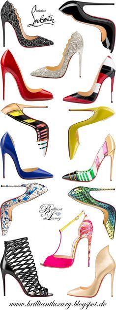 Brilliant Luxury by Emmy DE ♦ Christian Louboutin Collection Spring 2015 #stilettoheelslouboutin Fab Shoes, Dream Shoes, Crazy Shoes, Me Too Shoes, Pumps Heels, Stiletto Heels, High Heels, Stilettos, Tacos Altos