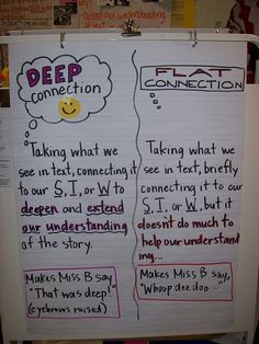 making connections...this is a pretty cool way to point out to the kids they need to connect to themselves, other text, or to their world!  (And PLEASE, let it have some deeper meaning...)