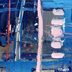 Items similar to Study In Pink And Blue, October 2016 (original abstract painting inspired by the Irish landscape) on Etsy Blue October, Beautiful Artwork, Study, Abstract, Unique Jewelry, Handmade Gifts, Pink, Painting, Summary