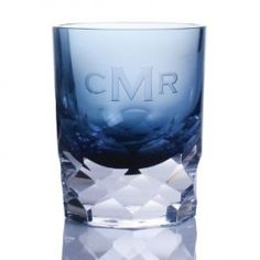 Monogrammed Colored Old Fashion Glasses  from eThoughtfulThings.com