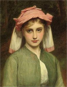 Young Girl in a Forest, Charles Sillem Lidderdale
