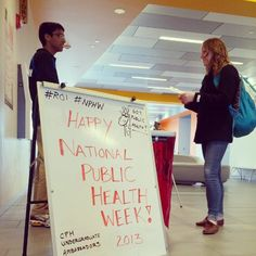 CPH undergraduate ambassadors have a table set up with information on how to handle stress in the 1st floor Cunz Hall lobby until 3 p.m. today. Check it out! #NPHW #OhioState