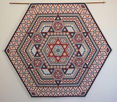 "'Elenor Jean' Hexagon Quilt.  1/4"" hexagons! Pattern booklet available."