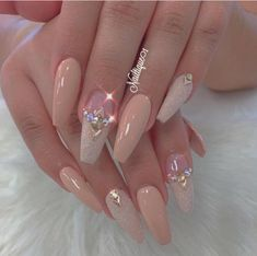 35 Simple Ideas for Wedding Nails Design 35 Simple Ideas for Wedding Nails Design Professionally performed and how to shape nails coffin pattern on nails can be done not only with the help of brushes, but also with the help of dots. This manicure tool Cute Acrylic Nails, Acrylic Nail Designs, Nail Art Designs, Gel Nails, Nude Nails, Fabulous Nails, Gorgeous Nails, Pretty Nails, Fancy Nails