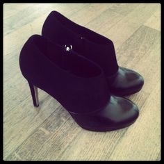 Black suede and leather...Gianna Meliani fw'13