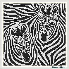 Cross Stitch Pattern Abstract Zebra's stripes horse