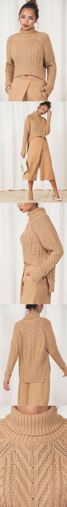 Песочный пуловер с косами. Идея для вязания | Шкатулочка для рукодельниц | вязание | Постила