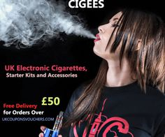 #Cigees E-Cigs Promo Codes – Free Delivery for Orders Over £50 #ElectronicCigarettes  http://www.ukcouponsvouchers.com/coupons/cigees-promo-code/
