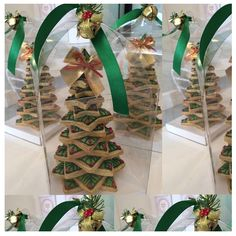 3d Christmas Tree, Christmas Tree Cookies, Christmas Wedding, Sugar Cookies, Christmas Cookies, Christmas Decorations, 3d Tree, Biscuit Recipe, Decorated Cookies