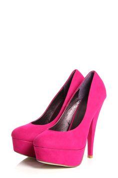 Abbie Pink Colour Block Platform Heels  www.boohoo.com