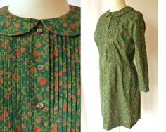 Vintage 60s Country Miss Day Dress  // Green by ModLoungeVintage, $42.00