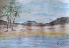 A Pretty Talent Blog: Watercolours Landscape Watercolor Landscape, Watercolours, Landscapes, Arts And Crafts, Pretty, Artist, Blog, Pictures, Painting