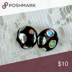 Round stud earrings Czech bead earrings  Small beads  Handmade Mc finishing touch Jewelry Earrings
