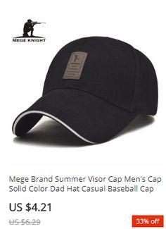 c7044bcd5f3 Mege Brand Summer Visor Cap Men's Cap Solid Color Dad Hat Casual Baseball  Cap casquette homme