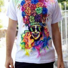 Resultado de imagen para camisetas de carnaval Mens Tops, T Shirt, Color, Fashion, T Shirt Painting, Costumes, Appliques, T Shirts, Artists