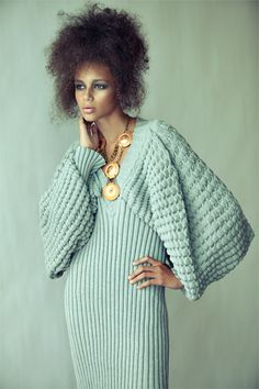 Design Inspiration - Steven Oo Knitwear Architecture...would be a great top but would work the sleeves cuff up increasing to the width needed to attach to both front and back bodice