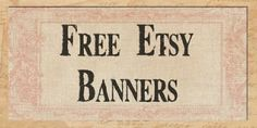 Tons of free etsy banners