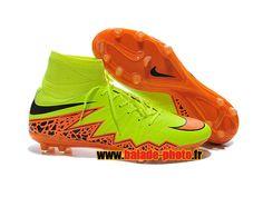 Nike Hypervenom II Phantom prime FG Chaussures de football Orange Jaune 4499