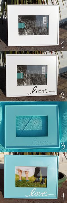 Easy Craft Ideas | DIY Picture Frame Home State Projects