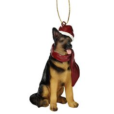 Features:  -Cast in quality designer resin.  -Hand painted.  -Design Toscano exclusive.  -Holiday Dog Ornament collection.  Product Type: -Hanging figurine.  Theme: -Animal.  Color: -Multi-colored.  N