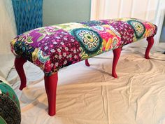 Great Bohemian Patterned Bench,
