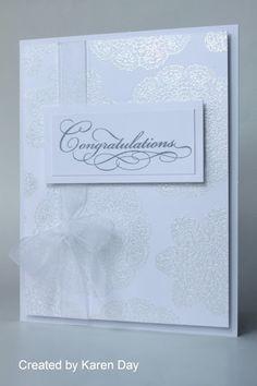 Gorgeous white on white card by Karen Day