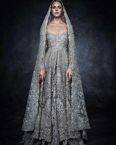"""#Elan's piece for Swarovski Sparkling Couture Exhibition held in Dubai!  @elanofficial"""