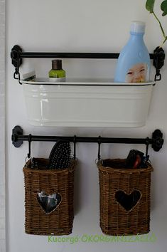 Perfect Hanging Basket Storage    Tie Wicker Baskets Together And Hang From