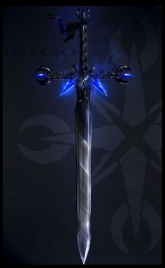 B l a c k I c e ~ sword Design (update). . . by VeRCeline.deviantart.com on @deviantART