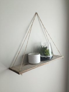 Hanging Shelves, Hanging Shelf, Wall Shelf, Rope Shelf, Rustic Shelves