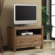 Have to have it. Emerald Home Furnishings Bellevue 44 in. TV Console - Natural Elm - $737.99 @hayneedle