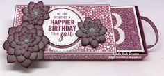 Linda Vich Creates: Poppin' Box Birthday Card. Succulents decorate this box that holds a 3D surprise for the recipient
