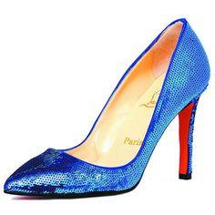 christian louboutin paillette pointed-toe pumps blue   http://www.hervesaledresses.com/christian-louboutin-paillette-pointedtoe-pumps-blue-p-282.html