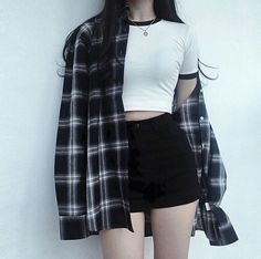 Korean Street Fashion - Life Is Fun Silo Teen Fashion Outfits, Edgy Outfits, Cute Casual Outfits, Grunge Outfits, Fashion Clothes, Girl Fashion, Girl Outfits, Korean Outfits Cute, 80s Fashion