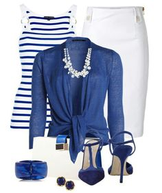 Your Blue and White Outfit