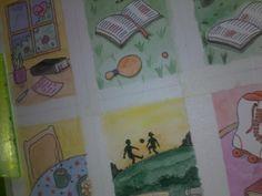 AquaBeca — Estou fazendo alguns cartões de aquarela e nanquim...