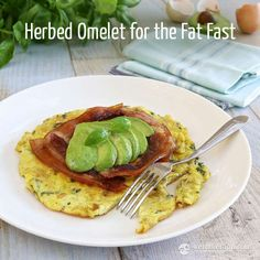 Herbed Omelet for the Fat Fast (low-carb, primal, keto, 3.3 g net carbs)