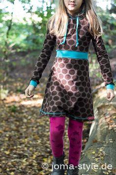 Schnitt: NIKA (Design: Fusselline),  Jersey: Maxidots in braunHerbstkleid NIKA   Farbenmix