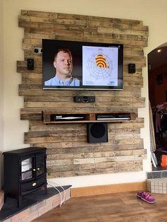 Resultado de imagen para pallet wall tv