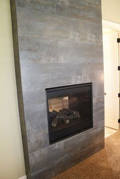 Tile Fireplace - modern - fireplaces - kansas city - Kenny's Tile & Floor Covering