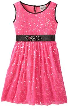 Rare Editions Girls 7-16 Sequin Dress, Fuchsia, 8 Rare a good dress for a party
