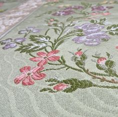 Exquisite Ritz Paris Italian Intricately Woven Floral Stripe Upholstery Drapery Fabric