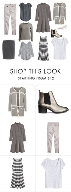 """""""Grey"""" by lone-haure-norrevang on Polyvore featuring H&M, VILA and Prada"""